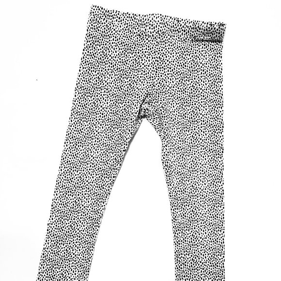 Old Navy B&W Spotted Animal Print Leggings